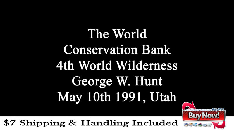 George Hunt Speaks in Utah, May 10th, 1991 Ad